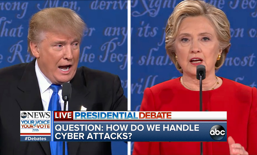 Clinton, Trump Tackle Cybersecurity in Debate