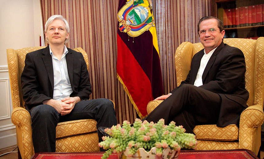 Ecuador Kiboshes WikiLeaks Leader's Internet Connection